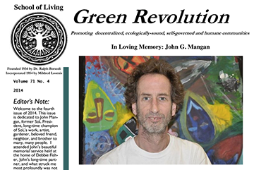 Read more about John in the Green Revolution, 2014